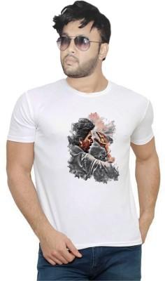 Graphic Print Men   Women Round Neck White T Shirt