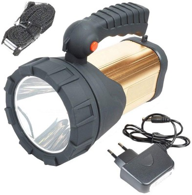 Rocklight R L499 A LED Big Emergency Rechargeable Long Range With 3 Mode & Ultra Bright Focus Camping Tracking Security Torch Light Torch(Multicolor : Rechargeable) at flipkart