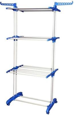 SUNDEX Steel Floor Cloth Dryer Stand CROME PLATED STEEL PIPE – 002(3 Tier)