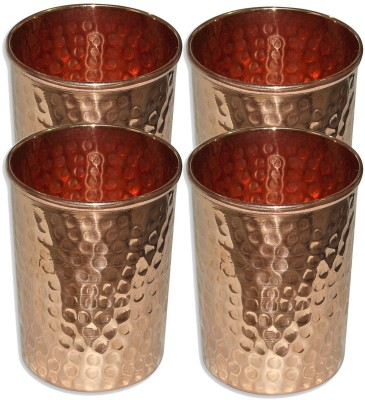 Rastogi Handicrafts  Pack of 4  100020 Glass Set 240 ml, Copper Rastogi Handicrafts Glasses