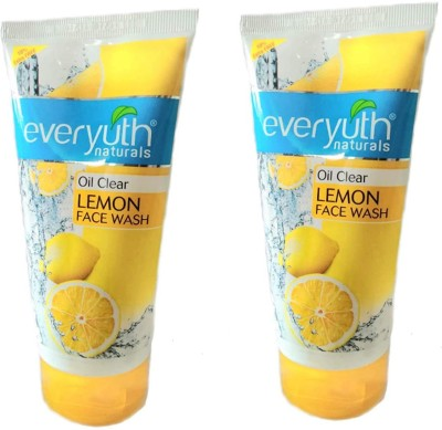EVERYUTH Naturals Oil Clear Lemon Face Wash 150gm+15gm extra free (Pack of 2 PC)  Face Wash(165 g)