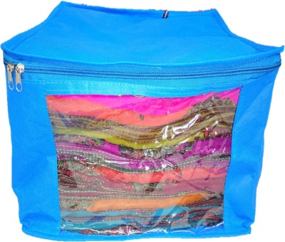 Addyz Plain Pack Of 2 Large Saree Cover Capacity10 15 Units Each Case Blue Addyz Garment Covers