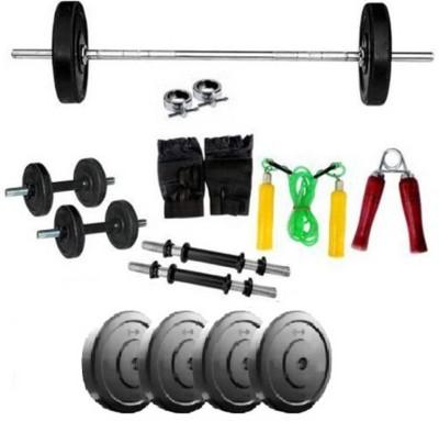 Monika Sports 3 ft straight rod + 10 dumbell combo for exercise Gym & Fitness Kit