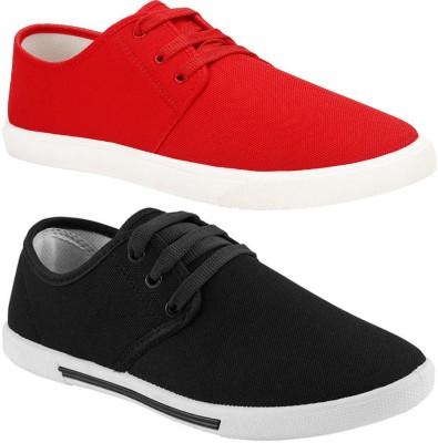 Bersache Combo(BR)-1077-349 Sneakers For Men(Red)
