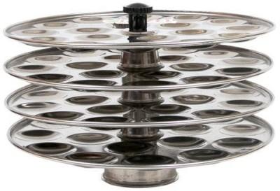 Hazel Mini Idli plate ( 4 Plate)- 18 Idlies per plate, Stainless Steel, Silver Standard Idli Maker(4 Plates , 72 Idlis ) at flipkart