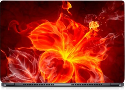 Gallery 83 ® Fire Flower Petals Exclusive High Quality Laptop Decal, laptop skin sticker 15.6 inch (15 x 10) Inch G83_skin_0371new Vinyl Laptop Decal 15.6