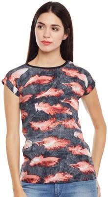 Daksh Fashions Casual Short Sleeve Printed Women Multicolor Top
