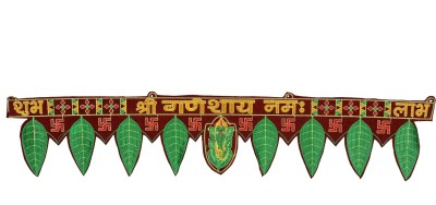 Rajrang Handmade Decorative Shubh Labh Fabric Door Hanging / Toran Fabric