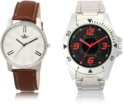 AD Global VL02-LD04 New Branded Collection Silver-Brown Metal-Synthetic Leather Strap Analog Watch  - For Men
