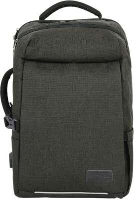 Portronics 15.6 inch Expandable Laptop Backpack(Grey)