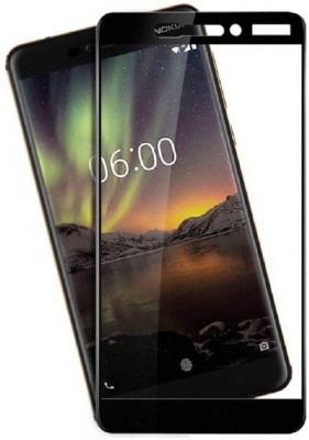 Macberry Tempered Glass Guard for Nokia 6.1 2018 (Black)(Pack of 1)