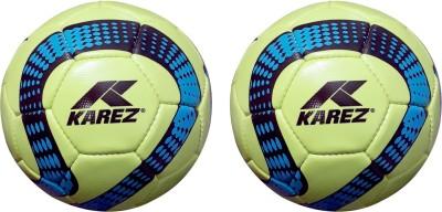 Karez KS PACK OF 2 Football   Size: 5 Pack of 2, Green Karez Footballs