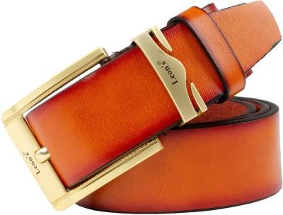 Cavallo Men Casual, Evening, Party Tan Genuine Leather Belt