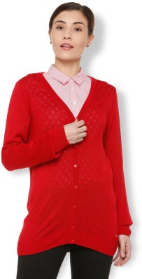 Van Heusen Women Button Cardigan at flipkart