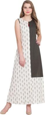 Rudraaksha Women A-line White Dress