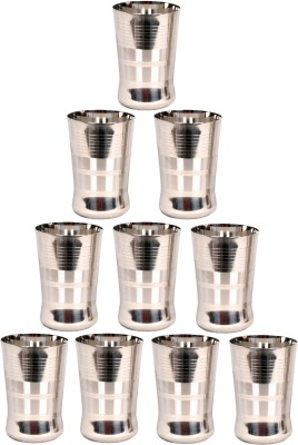 LIMETRO STEEL Stainless Steel Heavy Quality Made in India Mirror Finish set of 50 (6 Dinner Plates, 6 Big Halva Plates, 6 Small Halva Plates, 6 Big Bowl/ Wati, 6 Small Bowl/ Wati, 6 Glasses, 6 Spoons, 6 Forks, 2 Serving Spoons) Dinner Set Pack of 50 Dinner Set(Stainless Steel)