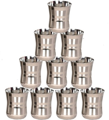 Limetro Stainless Steel G4-12 Glass Set(Steel, 350 ml, Steel, Pack of 12)