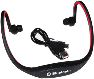 A Connect Z BS-19c-HDrMagic-ARZ133 Bluetooth Headset with Mic(Red, In the Ear) 1