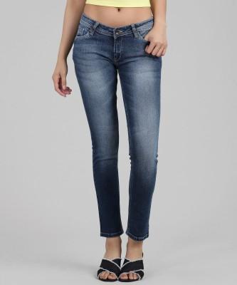 Manash Fashion Slim Women Dark Blue, Grey Jeans(Pack of 2)
