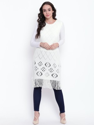 HK Colors Of Fashion Pure Wool Poncho