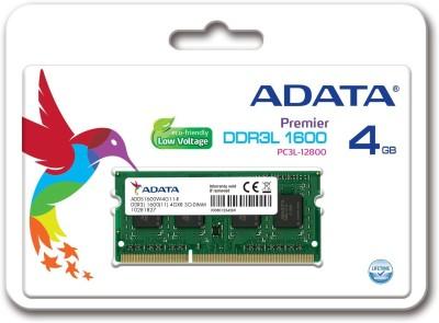 ADATA PREMIER DDR3 4 GB (Single Channel) Laptop (ADDS1600W4G11)(Green)