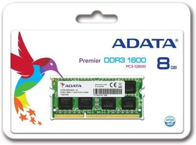ADATA PREMIER DDR3 8 GB (Single Channel) Laptop (ADDS1600W8G11)(Green)