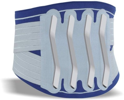 Dyna LumboGrip D S 3 D Knitted Lumbo Sacral Corset( Dual Strap)- Back Pain Belt Back Support(Blue)