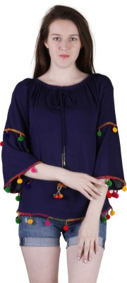 Jollify Casual 3/4th Sleeve Embroidered Women