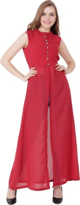 Shyammc Casual Sleeveless Solid Women Maroon Top Shyammc Women's Tops