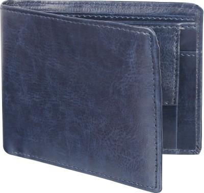 WalletIn Men Blue Artificial Leather Wallet(5 Card Slots)
