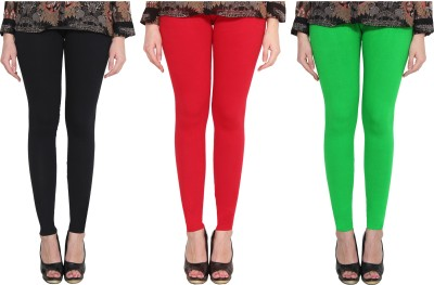 Aditi Fashion Ankle Length  Legging(Black, Red, Green, Solid)