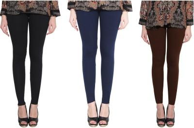 Aditi Fashion Ankle Length  Legging(Black, Dark Blue, Brown, Solid)