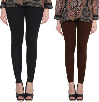Aditi Fashion Ankle Length  Legging(Black, Brown, Solid)