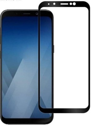 Ultra Clear Edge To Edge Tempered Glass for Samsung Galaxy A8 Plus (5D Tempered Glass)(Full Glue)(Pack of 1)
