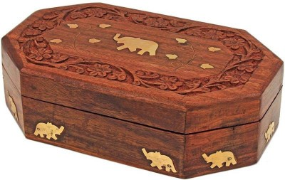 INDIAN ARTS AND CRAFTS JEWELLERY BOX VANITY BOX, JEWELLERY BOX Vanity Box(Brown)