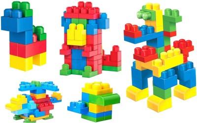 Planet of Toys 106 Pcs Building Blocks For Kids, Children Multicolor Planet of Toys Blocks   Building Sets