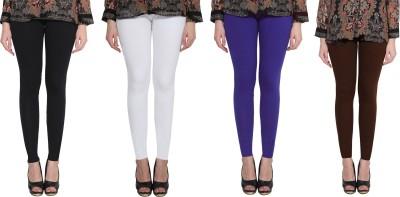 Aditi Fashion Ankle Length  Legging(Black, White, Blue, Brown, Solid)