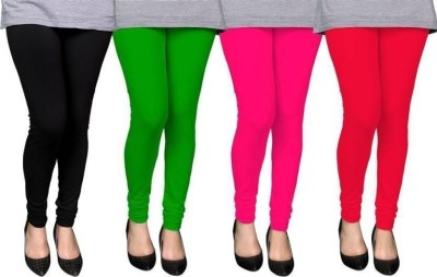 CN FASHION Churidar  Legging(Black, Pink, Green, Red, Solid)