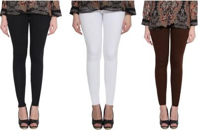 Aditi Fashion Ankle Length  Legging(Black, White, Brown, Solid)