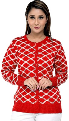 Duke Self Design Round Neck Casual Women Pink Sweater