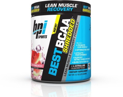 BPI Sports Best BCAA Shredded Lean Muscle Recovery Formula Watermelon Ice 9.7 oz (275 g)(275 g)