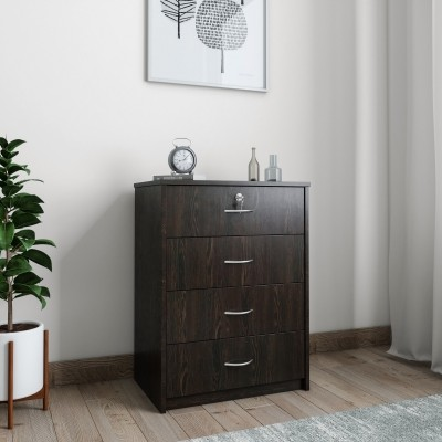 Mobel Furniture KF-6105 Engineered Wood Free Standing Chest of Drawers(Finish Color - Wenge)