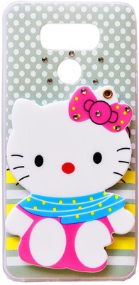 Marshland Back Cover for 3D Hello Kitty Cartoon Mirror View Stylish Designer Printed Soft Back Case, MultiColor, lg g6(multicolor, 3D Case, Silicon)