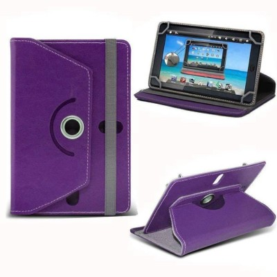 Cutesy Flip Cover for Spice Tab Mi-720(Purple, Cases with Holder)