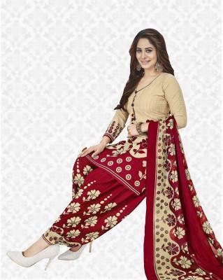 Divastri Crepe Printed Salwar Suit Dupatta Material(Un-stitched)