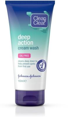 Clean & Clear Deep Action Cream Wash Face Wash(150 ml)