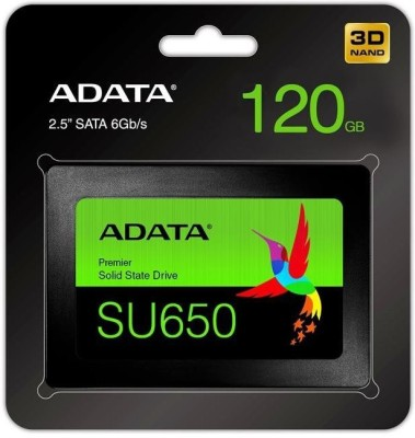 ADATA SU650 120 GB Laptop, Desktop, All in One PC's, Servers Internal Solid State Drive (SU650)