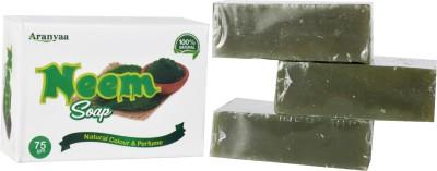 Aranyaa Organic Handmade Neem Soap - Pack of 3(2 x 37.5 g)
