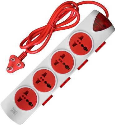 MX 4 Universal Sockets Power Strip With individual Switch Spike Guard 4 Socket Extension Boards