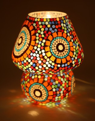 EarthenMetal Mosaic Style Dome Shaped Table Lamp(23 cm, Multicolor) at flipkart